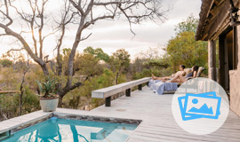 Luxury Suite Pool deck at Simbambili