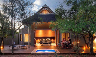 Romantic drinks and private pool