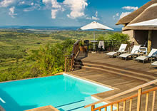 View from Umzolozolo Game Lodge