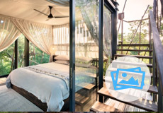 Bedroom at Ngala Treehouse
