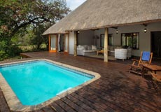 Swimming pool at The Cottage at Rhino River