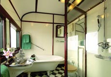 Bathroom in the Royal Suite on Rovos Rail