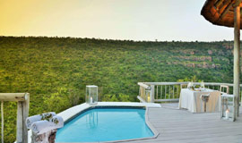 Private Plunge pool on the deck of your Clifftop Lodge Suite