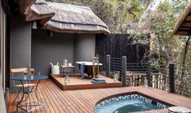 Pool deck at Jock safari Lodge