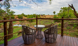 view from room deck at Madikwe River Lodge