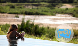 Pool view at Mala Mala Game Reserve