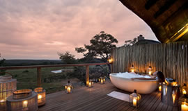 A bath at a Mhondoro Suite