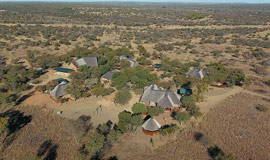 Aerial View of Mongena Lodge in Dinokeng game reserve