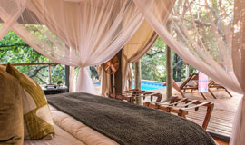Inside a Tented Suite at Rhino Sands
