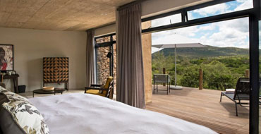 Bedroom view from Mthembu Lodge