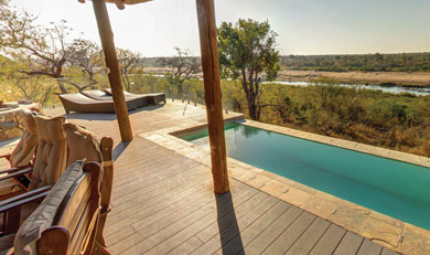 Swimming pool at Mjejane Lodge