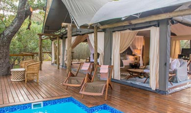 Private Plunge pool at Rhino Sands
